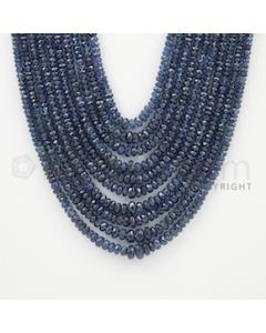 2.50 to 7.00 mm - 10 Lines - Sapphire Faceted Beads - 17 to 22 inches (SFB1024)