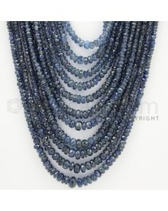2.50 to 7.00 mm - 11 Lines - Sapphire Faceted Beads - 18 to 24 inches (SFB1026)