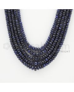 2.50 to 7.00 mm - 5 Lines - Sapphire Faceted Beads - 18 to 21 inches (SFB1034)