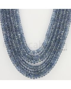 2.50 to 5.00 mm - 6 Lines - Sapphire Faceted Beads - 22 to 25 inches (SFB1037)