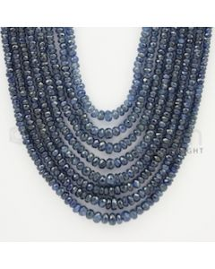 2.50 to 5.50 mm - 8 Lines - Sapphire Faceted Beads - 17 to 22 inches (SFB1046)