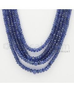 2.50 to 6.50 mm - 5 Lines - Sapphire Faceted Beads - 22 to 25 inches (SFB1050)