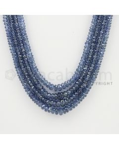2.50 to 5.50 mm - 4 Lines - Sapphire Faceted Beads - 16 to 18 inches (SFB1058)