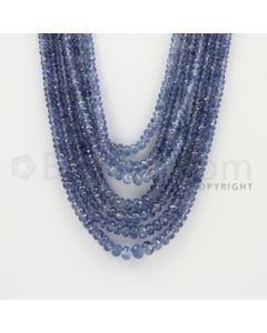 2.50 to 6.50 mm - 7 Lines - Sapphire Faceted Beads - 16 to 20 inches (SFB1070)