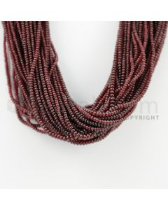 2.00 to 4.00 mm - 53 Lines - Ruby Smooth Beads - 16 inches (RSB1001)
