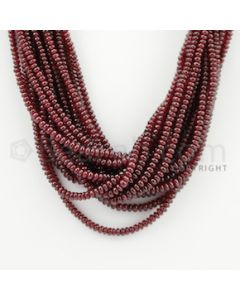2.20 to 3.50 mm - 18 Lines - Ruby Smooth Beads - 16 inches (RSB1002)