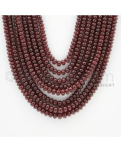 2.70 to 4.50 mm - 8 Lines - Ruby Smooth Beads - 18 to 23 inches (RSB1004)
