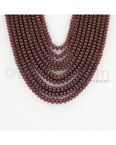 2.50 to 5.00 mm - 9 Lines - Ruby Smooth Beads - 18 to 22 inches (RSB1007)