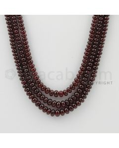 2.80 to 5.60 mm - 3 Lines - Ruby Smooth Beads - 15.5 to 17 inches (RSB1022)