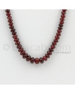 2.30 to 5.20 mm - 1 Line - Ruby Smooth Beads - 23 inches (RSB1030)
