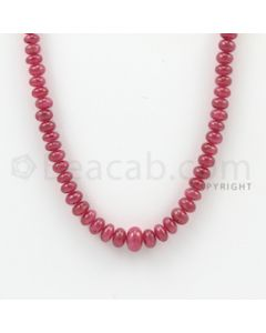 3.20 to 8.20 mm - 1 Line - Ruby Smooth Beads - 20 inches (RSB1031)