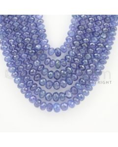 6.00 to 8.00 - 6 Lines - Tanzanite Faceted Beads - 18 to 22 inches (TzFB1001)