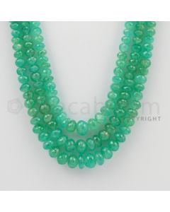 3.50 to 8.80 mm - 3 Lines - Emerald Faceted Beads - 16 to 19 inches (EmFB1030)
