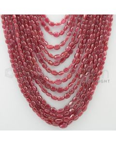 4.00 to 10.00 mm - 13 Lines - Ruby Tumbled Beads - 14 to 23 inches (RuTuB1001)