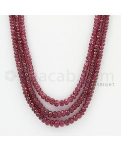 2.50 to 6.00 mm - Ruby Faceted Beads - 202.95 Carats - 3 Lines (RFB1025)