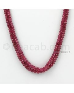 2.50 to 4.50 mm - Ruby Faceted Beads - 104.40 Carats - 2 Lines (RFB1027)