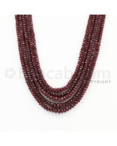 2.50 to 4.50 mm - Ruby Faceted Beads - 237.00 Carats - 5 Lines (RFB1031)