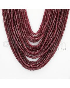 2.50 to 4.50 mm - Ruby Faceted Beads - 992.00 Carats - 17 Lines (RFB1033)