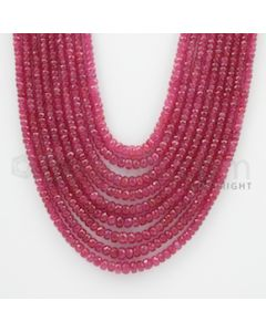 2.40 to 5.40 mm - Ruby Faceted Beads - 576.00 Carats - 9 Lines (RFB1044)