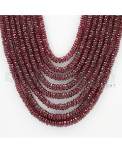 3.00 to 6.00 mm - Ruby Faceted Beads - 884.00 Carats - 9 Lines (RFB1047)