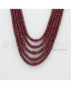 2.40 to 6.00 mm - Ruby Faceted Beads - 350.30 Carats - 5 Lines (RFB1050)