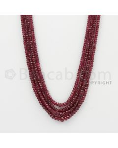 2.50 to 6.00 mm - Ruby Faceted Beads - 210.35 Carats - 4 Lines (RFB1054)