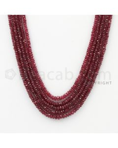 2.00 to 4.00 mm - Ruby Faceted Beads - 141.50 Carats - 5 Lines (RFB1060)