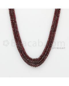 2.20 to 2.50 mm - Ruby Faceted Beads - 117.17 Carats - 3 Lines (RFB1067)