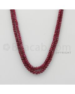 2.50 to 5.00 mm - Ruby Faceted Beads - 128.28 Carats - 2 Lines (RFB1072)