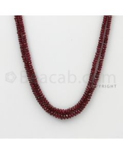 2.20 to 4.00 mm - Ruby Faceted Beads - 73.00 Carats - 2 Lines (RFB1074)