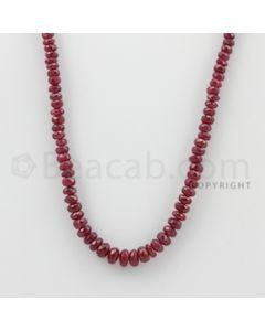 3.50 to 6.00 mm - Ruby Faceted Beads - 71.00 Carats - 1 Line (RFB1079)