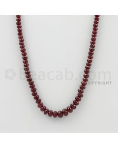 3.50 to 6.50 mm - Ruby Faceted Beads - 108.00 Carats - 1 Line (RFB1080)