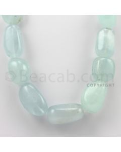 20.00 to 32.00 mm - Aquamarine Tumbled Beads - 1138.00 Carats - 1 Line (AqTuB1002)