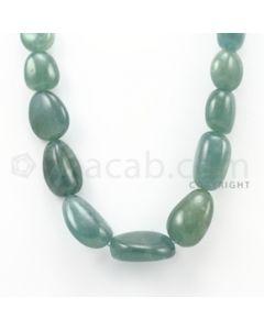 16.00 to 30.00 mm - Aquamarine Tumbled Beads - 668.90 Carats - 1 Line (AqTuB1006)
