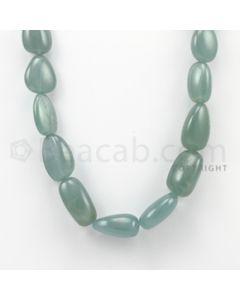 16.00 to 24.00 mm - Aquamarine Tumbled Beads - 622.50 Carats - 1 Line (AqTuB1007)
