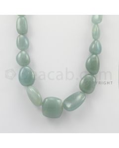 13.00 to 30.00 mm - Aquamarine Tumbled Beads - 673.50 Carats - 1 Line (AqTuB1010)