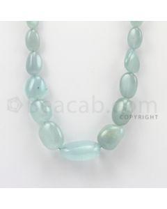 13.00 to 27.00 mm - Aquamarine Tumbled Beads - 380.15 Carats - 1 Line (AqTuB1012)