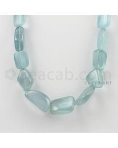 15.00 to 25.00 mm - Aquamarine Tumbled Beads - 354.20 Carats - 1 Line (AqTuB1014)