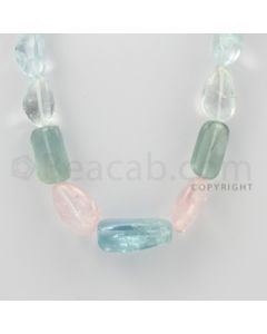 15.00 to 27.00 mm - Aquamarine, Morganite Tumbled Beads - 376.00 Carats - 1 Line (MAqTuB1019)