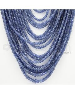 3.00 to 6.50 mm - 17 Lines - Sapphire Faceted Beads - 18 to 26 inches (SFB1018)