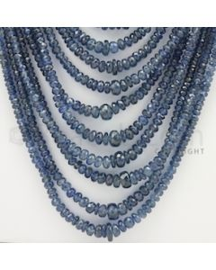2.50 to 5.50 mm - 26 Lines - Sapphire Faceted Beads - 16 to 31 inches (SFB1017)