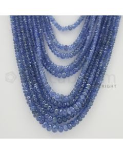 2.50 to 7.00 mm - 12 Lines - Sapphire Faceted Beads - 17 to 26 inches (SFB1019)