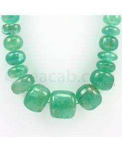 8.75 to 22.00 mm - 1 Line - Emerald Smooth Beads - 22 inches (EmSB1001)