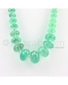 9.00 to 19.50 mm - 1 Line - Emerald Smooth Beads - 16 inches (EmSB1002)