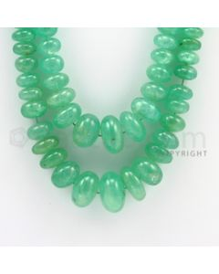 6.00 to 20.00 mm - 2 Lines - Emerald Smooth Beads - 19 to 21 inches (EmSB1004)