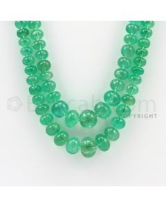 4.00 to 11.50 mm - 2 Lines - Emerald Smooth Beads - 19 to 20 inches (EmSB1005)