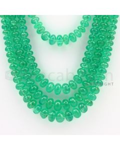 4.25 to 9.00 mm - 4 Lines - Emerald Smooth Beads - 16 to 20 inches (EmSB1009)