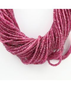 3.00 to 4.00 mm - 58 Lines - Pink Sapphire Faceted Beads - 16 inches (PnSFB1040)