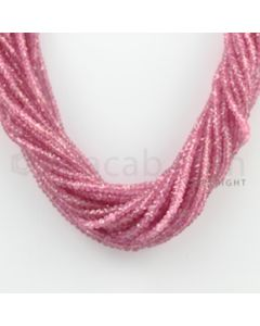 2.50 to 4.50 mm - 22 Lines - Pink Sapphire Faceted Beads - 17 inches (PnSFB1042)