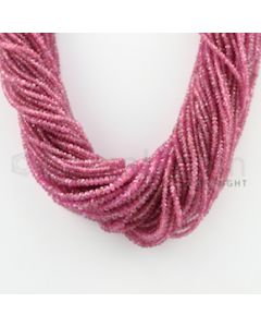 2.50 to 4.50 mm - 54 Lines - Pink Sapphire Faceted Beads - 16 inches (PnSFB1043)